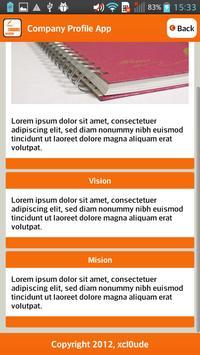 Company Profile Orange apk screenshot
