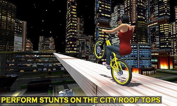 Impossible Rooftop Bicycle Stunt Rider poster