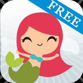 Love the little mermaid Free icon