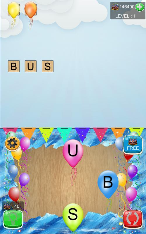 word party educative words game anagrams letters screenshot 4