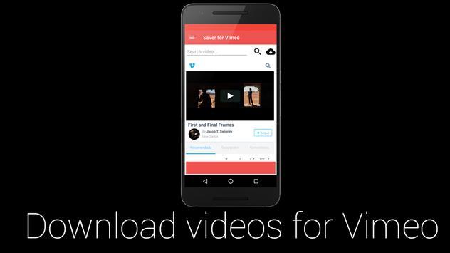 TheSaver for Vimeo Video apk screenshot