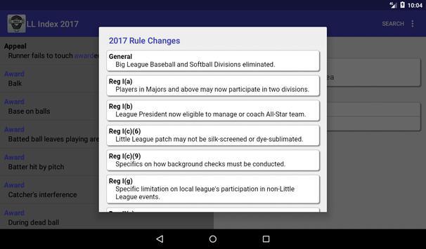 LLUmpires.com Rules Index 2017 apk screenshot