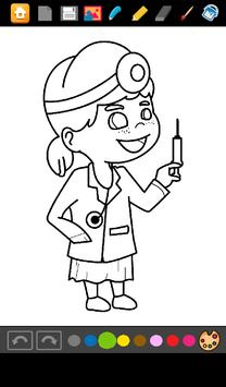 Doctors Coloring Game screenshot 12