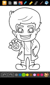 Doctors Coloring Game screenshot 1