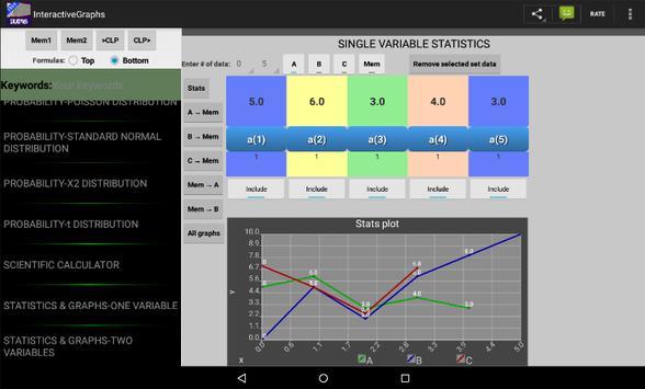 Interactive Graphs apk screenshot