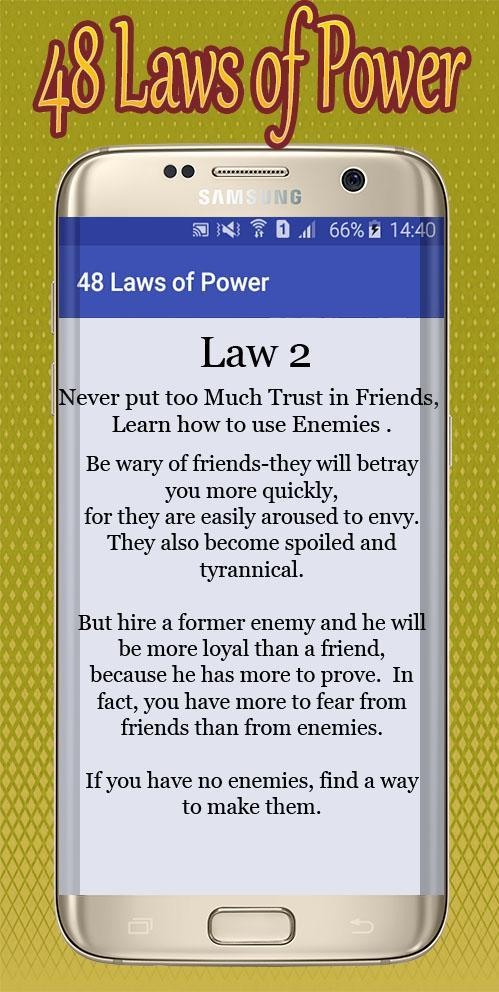 40 laws power the of The 48