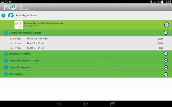 Profs-Alunos screenshot 2