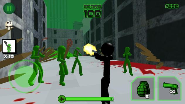 Stickman Zombie Shooting 3D poster