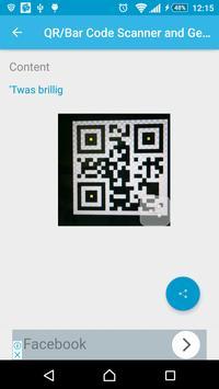 Barcode/QR Code Scanner/Generator screenshot 4