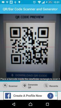 Barcode/QR Code Scanner/Generator poster