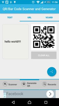 Barcode/QR Code Scanner/Generator screenshot 1