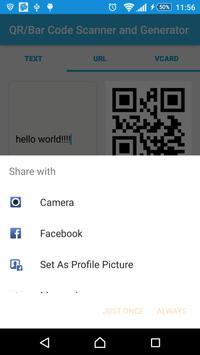 Barcode/QR Code Scanner/Generator screenshot 2