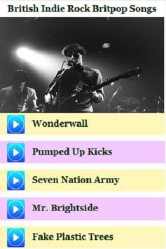British Indie Rock Britpop Songs poster