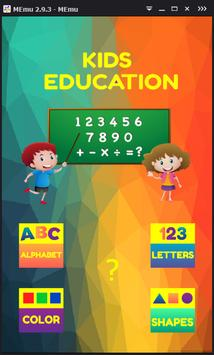 the Basic English for kids poster