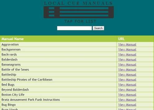 Local Cue Manuals screenshot 1