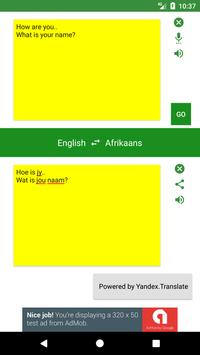 Afrikaans to English Translator apk screenshot