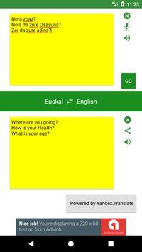 Basque to English Translator apk screenshot