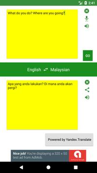 English to Malaysian Translator apk screenshot
