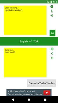 English to Turkish Translator poster