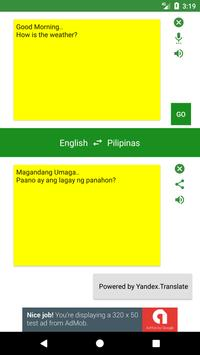 English to Philippines Translator poster