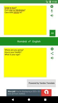 Romanian to English Translator apk screenshot