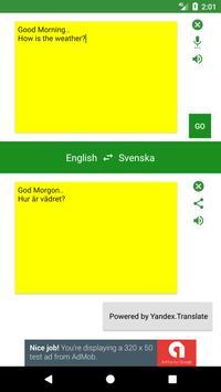 Swedish to English Translator poster