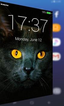Black Cat Free Lock Screen Pro poster