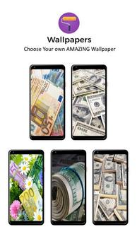 Money Pattern Lock Screen poster