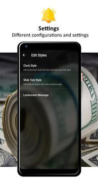 Money Pattern Lock Screen screenshot 4