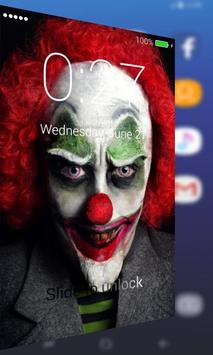 Scary Clown Cool Lock Screen apk screenshot