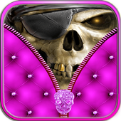 Skull Zipper Screen Lock icon