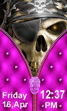Skull Zipper Screen Lock apk screenshot