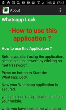 New Lock for WhatsApp apk screenshot