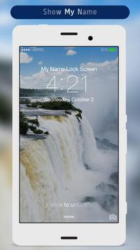 Waterfall Lock Screen apk screenshot