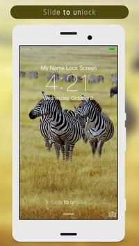 Zebra Lock Screen poster