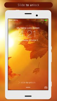 Autumn Leaves Lock Screen apk screenshot