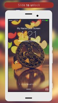 Peace Sign Lock Screen apk screenshot