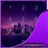Purple Night Lock Screen icon