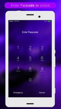 Purple Night Lock Screen poster