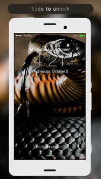 Snakes Lock Screen apk screenshot