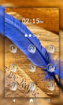 Feather Keypad LockScreen poster