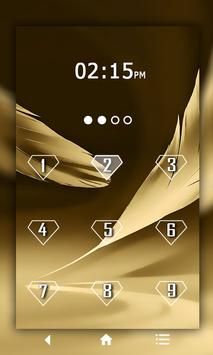 Feather Keypad LockScreen apk screenshot
