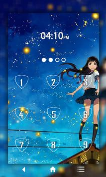 Fireflies Keypad LockScreen apk screenshot