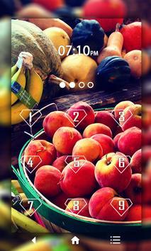 Fruits Keypad LockScreen poster