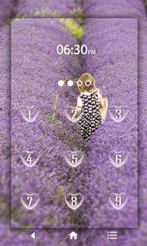 Lavender Keypad LockScreen poster