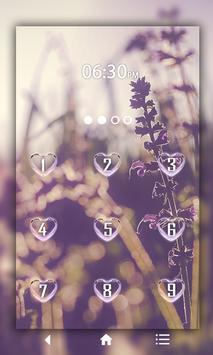 Lavender Keypad LockScreen apk screenshot