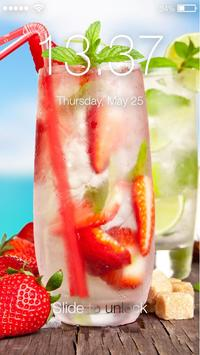 Summer Cocktails  screen Lock poster