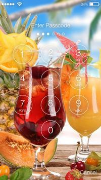 Summer Cocktails  screen Lock apk screenshot