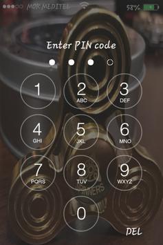 Fidget Spinners Gold Lock Screen HD apk screenshot
