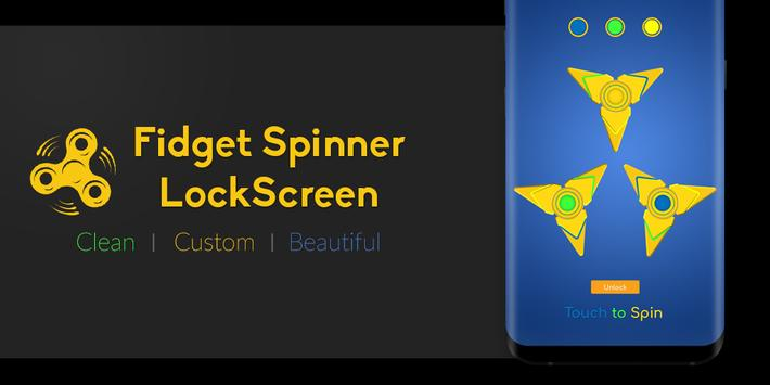 Fidget Hand Spinner Lock Screen poster